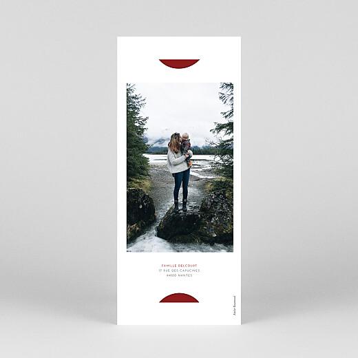 Carte de voeux Elegant cœur (marque-page) rouge - Vue 4