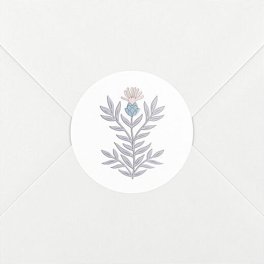 Stickers pour enveloppes naissance Botanique rose - Vue 2