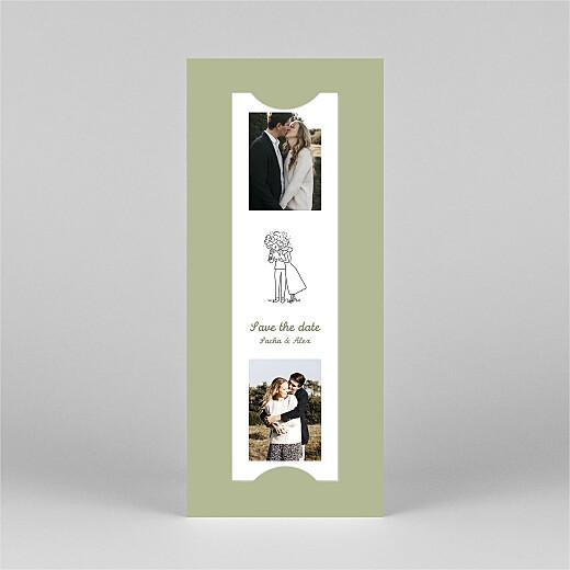 Save the Date Votre mariage en pictos (photomaton) vert - Vue 3