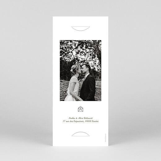 Carte de remerciement mariage Votre mariage en pictos (marque-page) vert - Vue 4