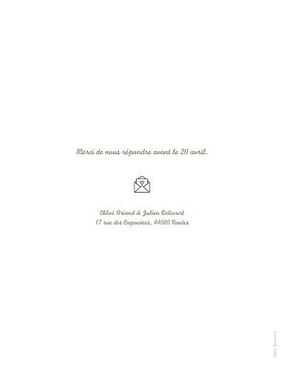Faire-part de mariage Votre mariage en pictos (classique) blanc - Page 2