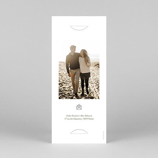 Faire-part de mariage Votre mariage en pictos (marque-page) vert - Vue 4