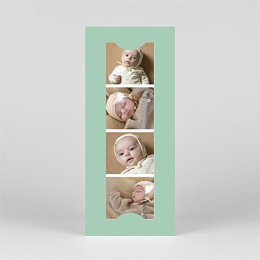 Faire-part de naissance Candeur (marque-page) vert - Vue 3