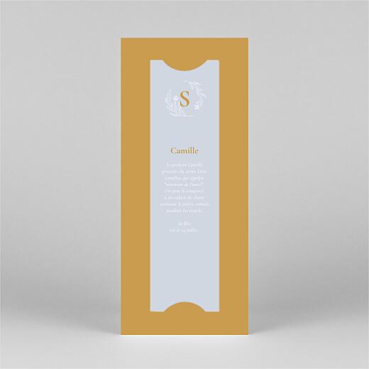 Faire-part de naissance Blason floral (marque-page) jaune - Vue 3