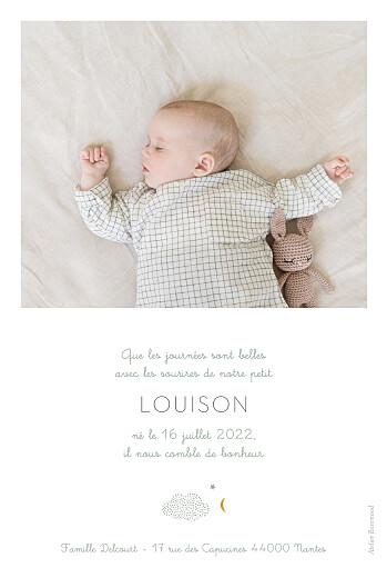 Faire-part de naissance Nuage de lait (portrait) bleu - Page 2