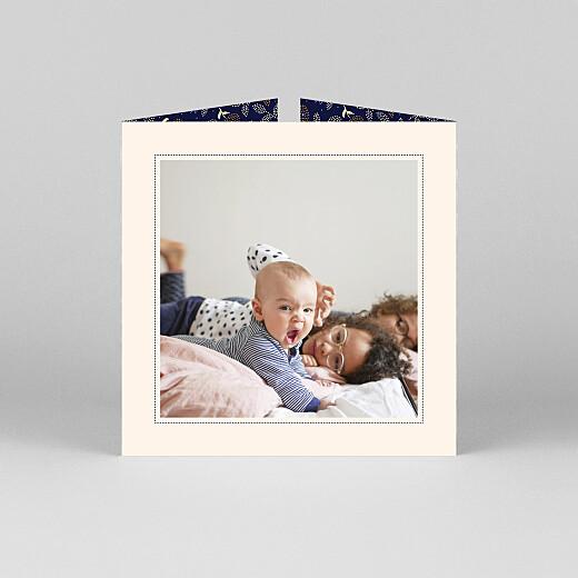 Faire-part de naissance Broderie florale (fenêtre) beige - Vue 3