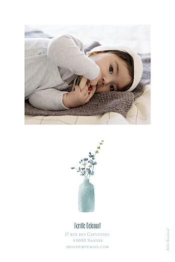 Faire-part de naissance Bouquet sauvage (portrait) violet - Page 2