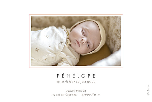 Faire-part de naissance Comptine photo paysage rose - Page 2