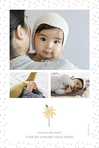 Faire-part de naissance Palmiers (portrait) jaune - Page 2