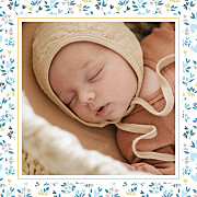 Faire-part de naissance Petit liberty coeur (triptyque) bleu page 4