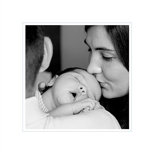 Faire-part de naissance Comptine 4 photos triptyque bleu - Page 2