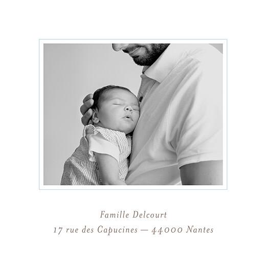 Faire-part de naissance Comptine 4 photos triptyque bleu - Page 5
