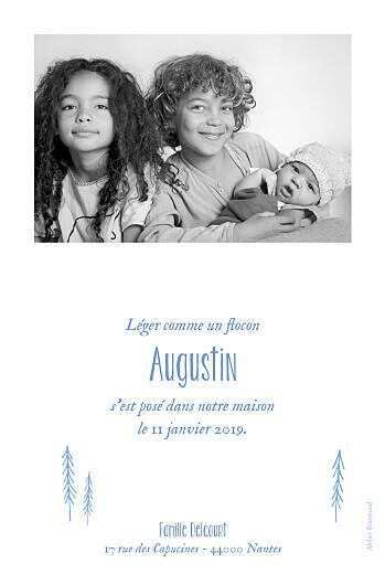 Faire-part de naissance Petites montagnes photo rv bleu - Page 2