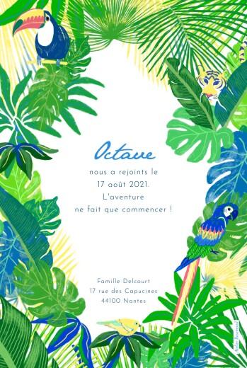 Faire-part de naissance Jungle photo vert - Page 2