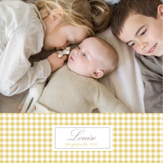 Faire-part de naissance Vichy 2 photos ocre
