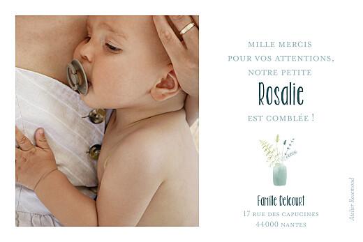 Carte de remerciement Petit bouquet sauvage bleu - Page 2