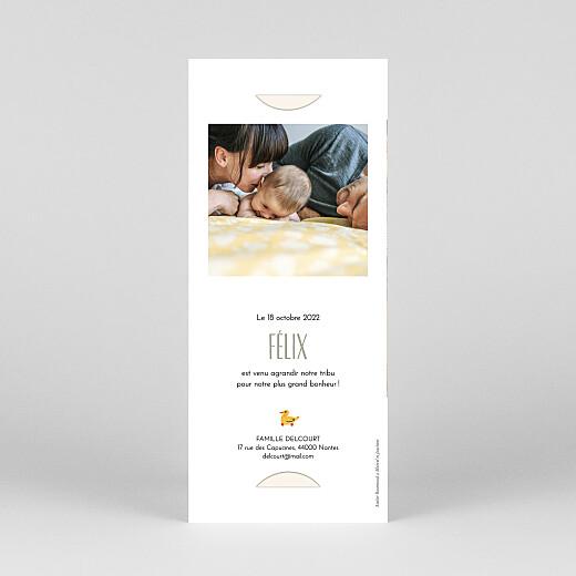 Faire-part de naissance Dodo (marque-page) blanc - Vue 4