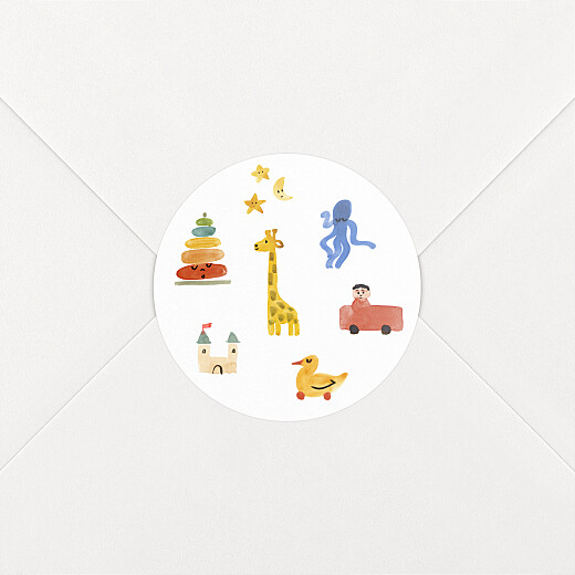 Stickers pour enveloppes naissance Dodo blanc - Vue 2