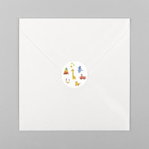 Stickers pour enveloppes naissance Dodo blanc - Vue 1