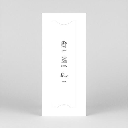Faire-part de naissance Petite gravure (marque-page) blanc - Vue 3