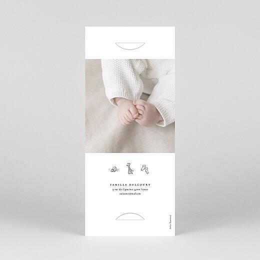 Faire-part de naissance Petite gravure (marque-page) blanc - Vue 4