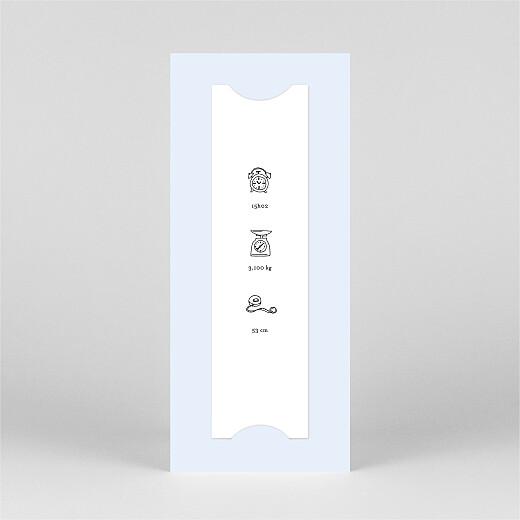 Faire-part de naissance Petite gravure (marque-page) bleu - Vue 3