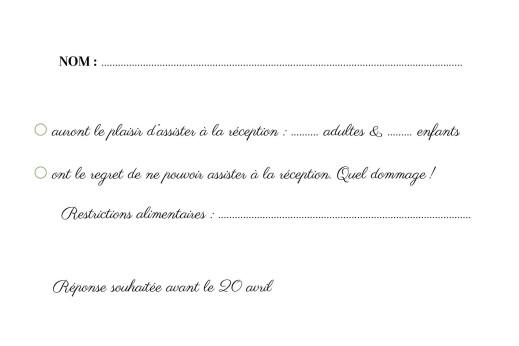 Carton réponse mariage Sous la pergola (paysage) vert - Page 2