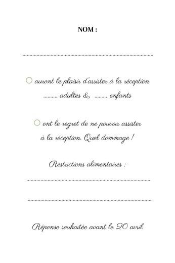 Carton réponse mariage Sous la pergola vert - Page 2
