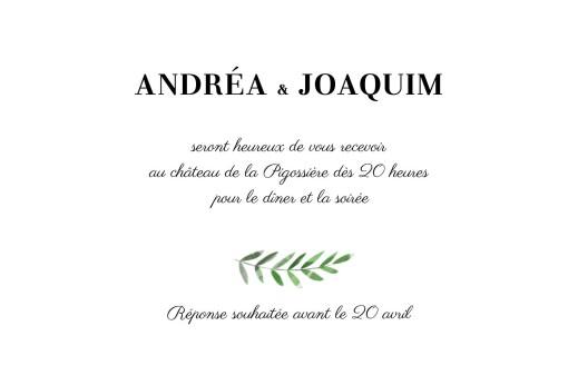 Carton d'invitation mariage Sous la pergola (paysage) vert
