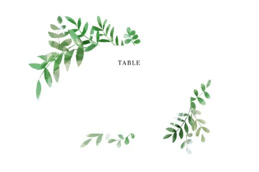 Marque-table mariage Sous la pergola vert