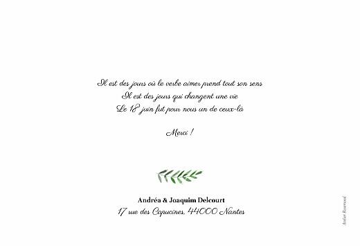 Carte de remerciement mariage Sous la pergola (paysage) vert - Page 2