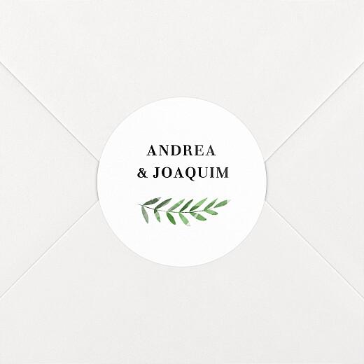 Stickers pour enveloppes mariage Sous la pergola vert - Vue 2