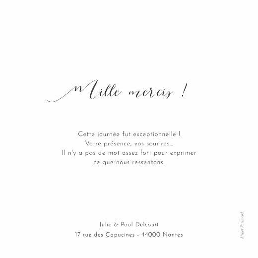 Carte de remerciement mariage Feuille d'or (cartouche) blanc - Page 2