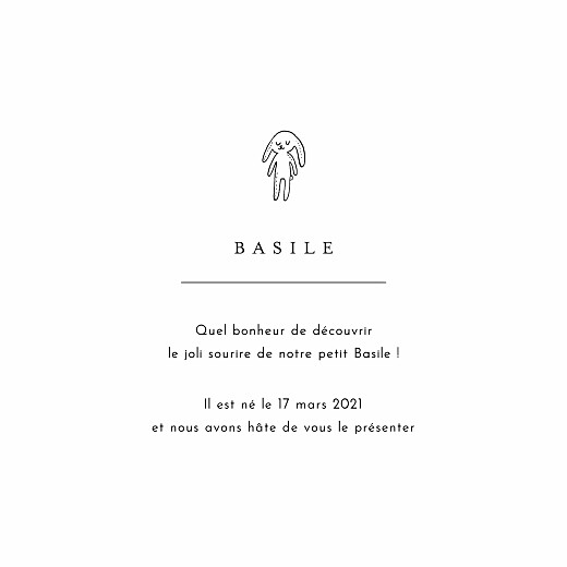 Faire-part de naissance Étiquette illustrée (4 pages) rose - Page 3