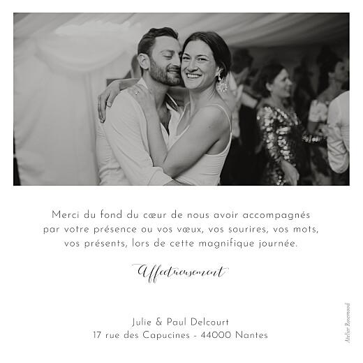 Carte de remerciement mariage Feuille d'or blanc - Page 2