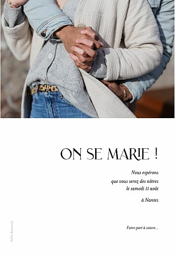 Save the Date Simplement blanc - Page 2