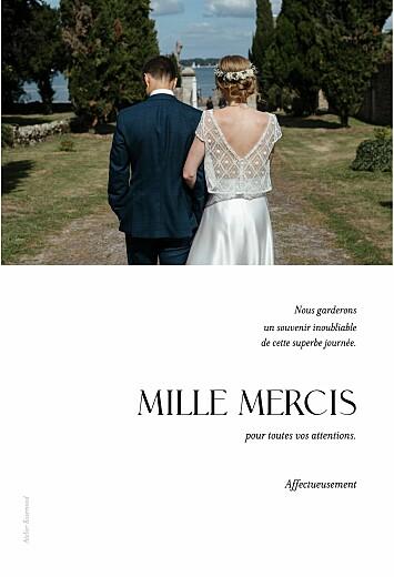 Carte de remerciement mariage Simplement blanc - Page 2