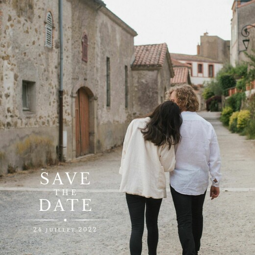 Save the Date Joli détail blanc