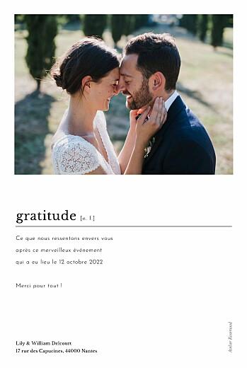 Carte de remerciement mariage Édito blanc - Page 2