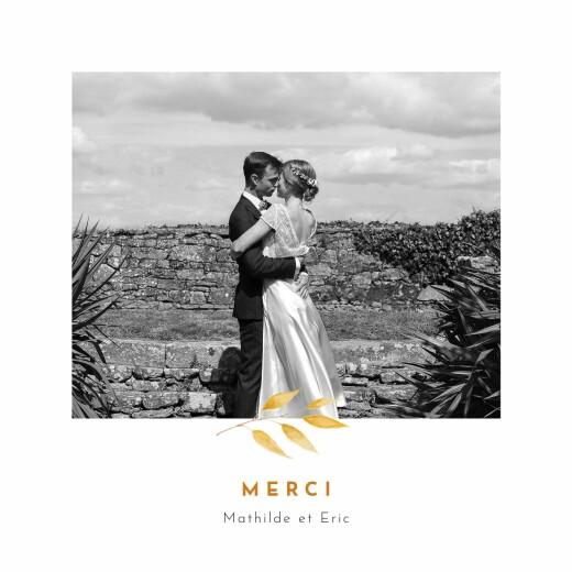 Carte de remerciement mariage Quatre saisons (4 pages) automne