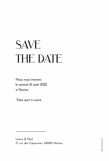 Save the Date Diamant (dorure) blanc - Page 2