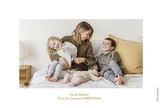 Faire-part de naissance Green family blanc - Page 4