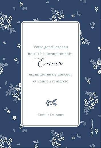 Carte de remerciement Jardin de primevères bleu - Page 2