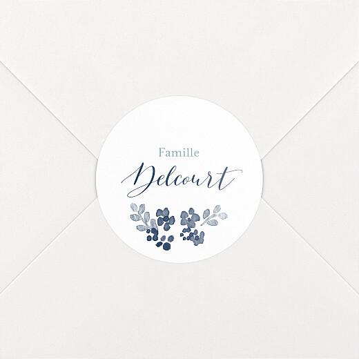 Stickers pour enveloppes naissance Jardin de primevères bleu - Vue 2