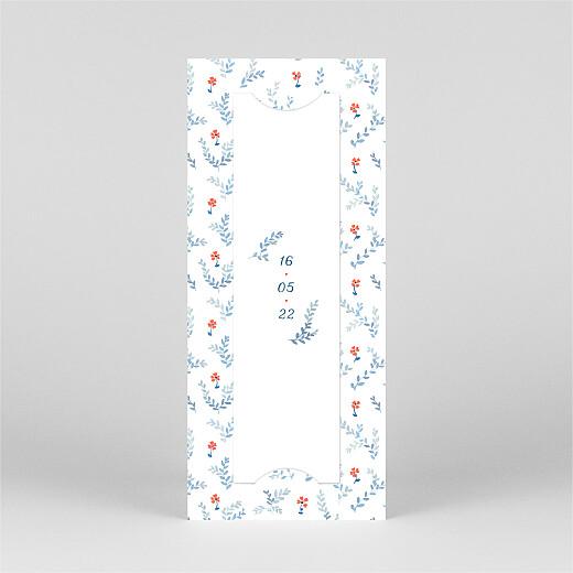 Faire-part de naissance Jardin de capucines (marque-page) bleu - Vue 3