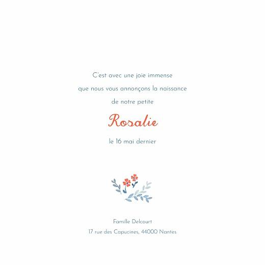 Faire-part de naissance Jardin de capucines (4 pages) bleu - Page 3