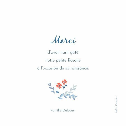 Carte de remerciement Jardin de capucines (photo) bleu - Page 2