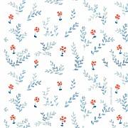 Faire-part de naissance Petit jardin de capucines (mini format) bleu page 3