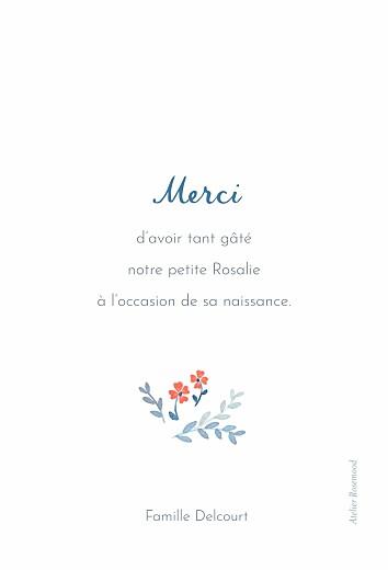 Carte de remerciement Jardin de capucines (portrait) bleu - Page 2