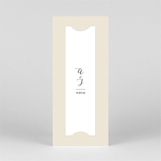 Carte de remerciement mariage Tendre innocence (marque-page) beige - Vue 3